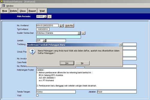 Software Kwitansi Pembayaran Krishand Kwitansi Free Download