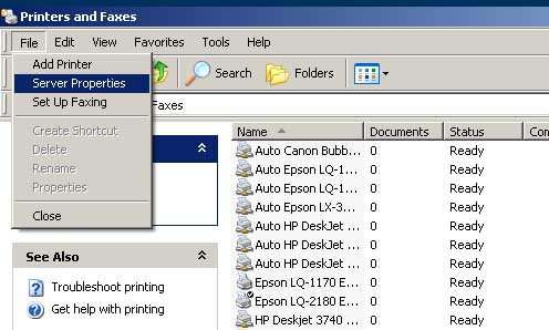 Setting custom size paper di Windows XP