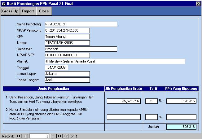 Aplikasi Excel Perhitungan Pajak Penghasilan Excelmaniacs
